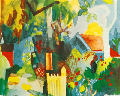 Auguste Macke Landscape painting reproduction