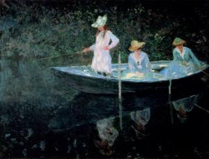 In The Rowing Boat Claude Monet 1887
