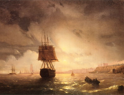 Ivan Aivazovsky The Harbor At Odessa On The Black Sea