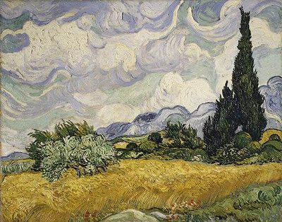 Vincent Van Gogh Wheat Field with Cypresses 1889