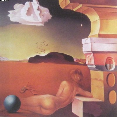 Salvador Dali nude on the plain of rosas oil painting reproduction