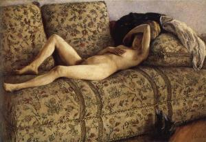 The female nude on the sofa
