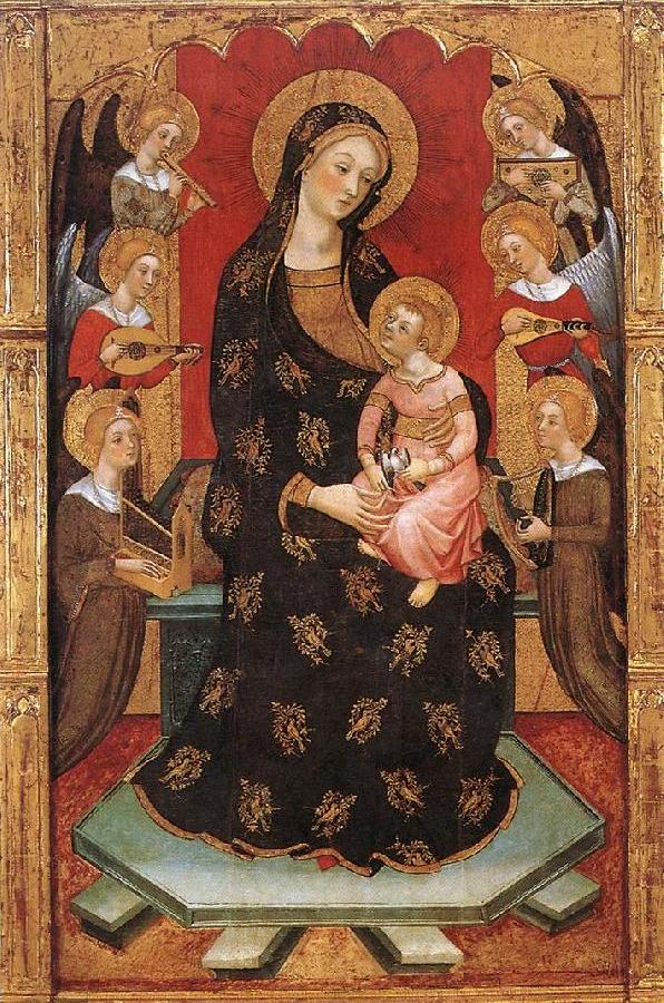 Madonna with Angels Playing Music