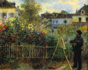 Monet Painting in his Garden
