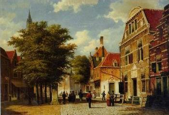 European city street landsacpe