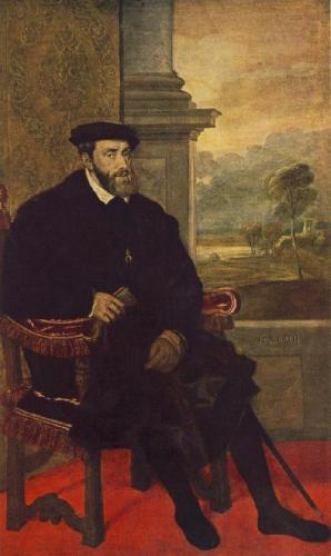 Portrait of Charles V Seated r
