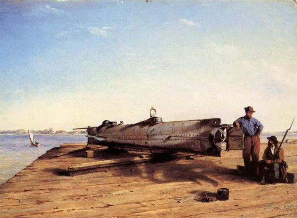 Submarine Torpedo Boat H.L.Hunley,Charleston,Dec.3.1863