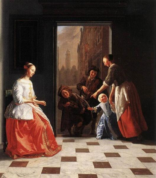 Street Musicians at the Doorway of a House dh