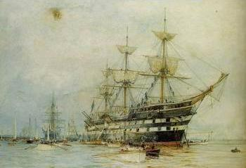 Seascape, boats, ships and warships. 121