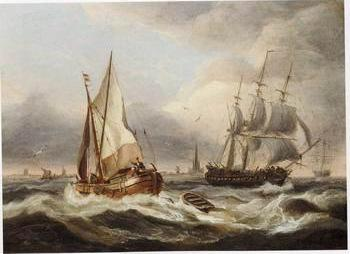 Seascape, boats, ships and warships. 33