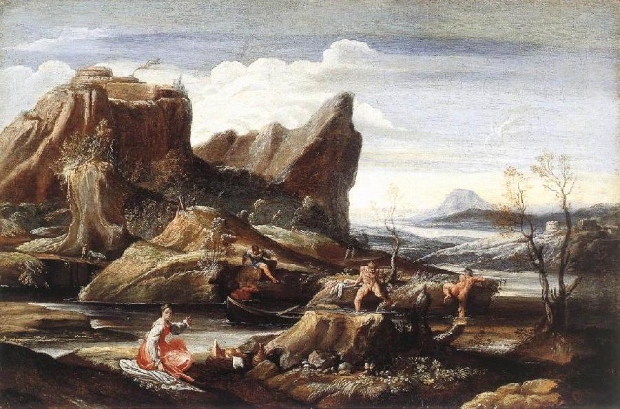Landscape with Bathers dfg