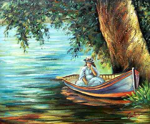 Woman in a Boat