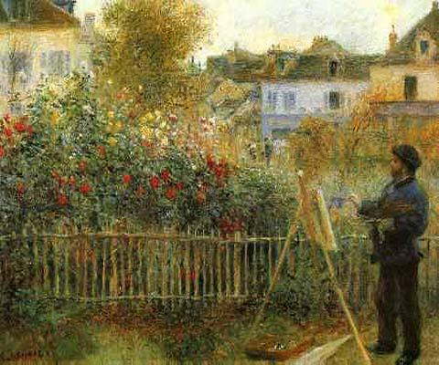 Claude Monet Painting in his Garden