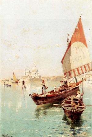 Sailboat In a Venetian Lago