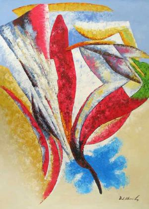 Abstract Collage,oil painting supplies