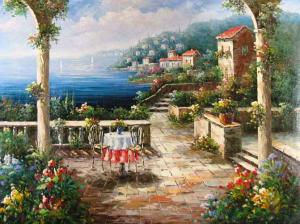 Terrace on the Mediterranean