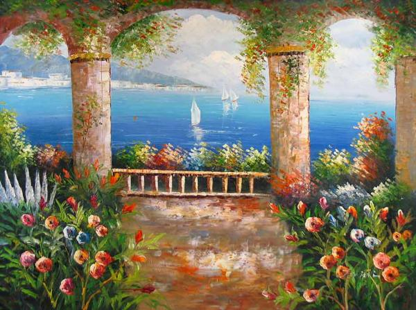 Vista Mediterranean,oil painting reproductions