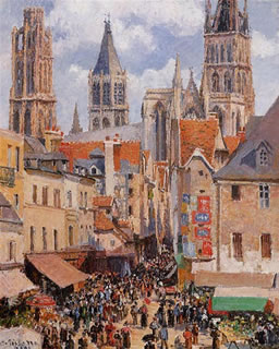 The Old Market and the Rue de lEpicerie, Rouen