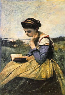 A Woman Reading in a Landscape