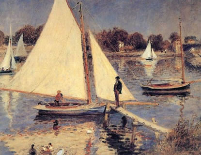 The Seine at Argenteuil (Sailboats at Argenteuil)