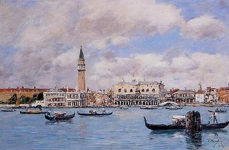 Venice - The Campanile, the Ducal Palace