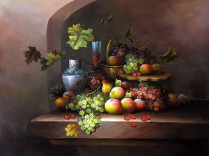 Classic Fruit Still Life,oil painting supplies