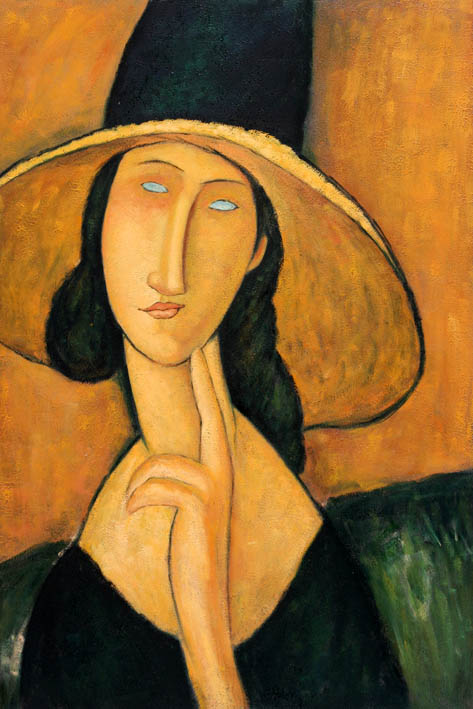Jeanne H?buterne in Large Hat