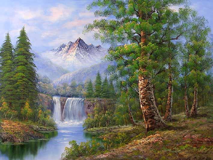 Classic Mountain Landscape Landscape Oil Painting Gallery