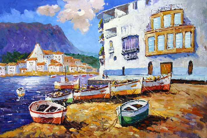 Small Boats On The Sandshore