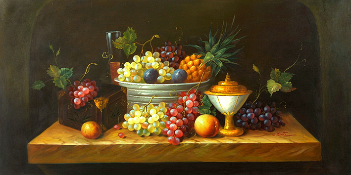 Classic Fruit Still Life,oil paintings on canvas