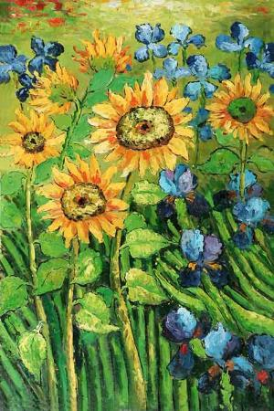Flowers In The Field, Free After Van Gogh