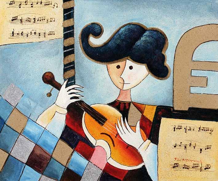 Roundhead Plays Guitar
