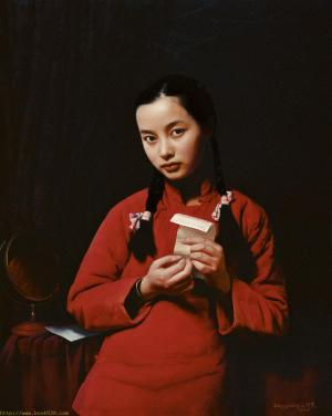 Chinese girls,oil paintings from photos