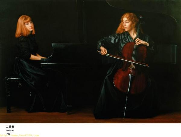 the duet oil painting