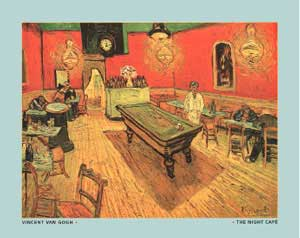 Night Cafe With Pool Table Vincent Van Gogh - Pool table painting