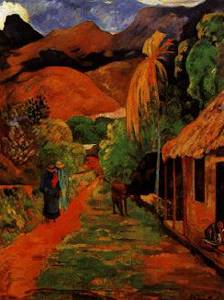 Street In Tahiti - Paul Gauguin