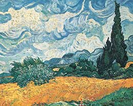 Wheat Field with Cypresses - Vincent Van Gogh