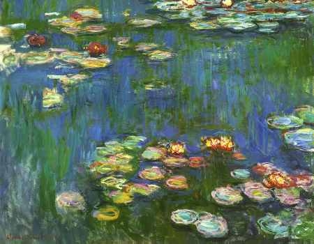 Water Lilies 1916 (detail)