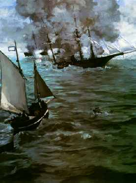 Battle of the Kearsarge and the Alabama (portrait detail)