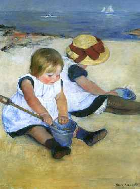 Children Playing on the Beach (detail)