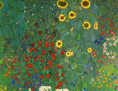 Farm Garden with Sunflowers (detail)