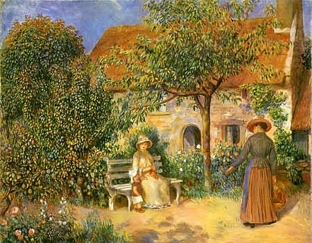 Garden Scene in Brittany