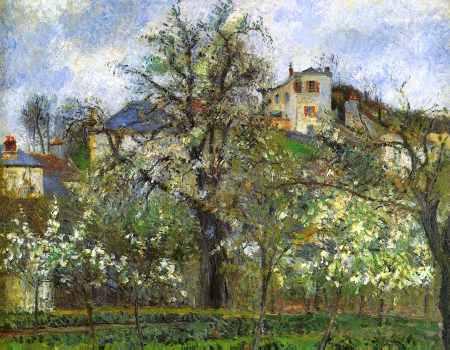 Kitchen Garden and Flowering Trees, Spring, Pontoise