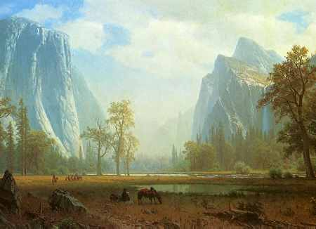 Looking up the Yosemite Valley (detail)
