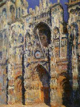 Rouen Cathedral, The Portal and the Tour Sainte-Romain, Full Sunlight: Harmony in Blue and Gold