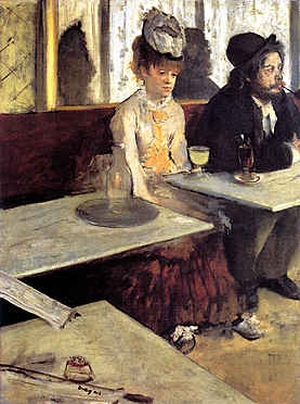 The Absinthe Drinker in a Cafe