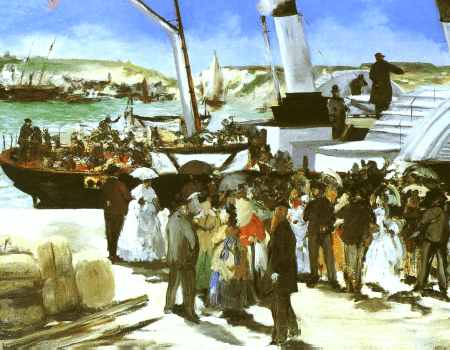 The Departure of the Folkestone Boat