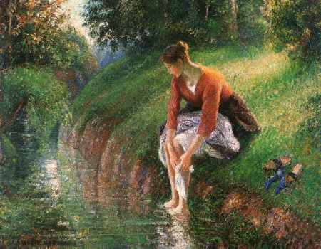 Woman Bathing Her Feet
