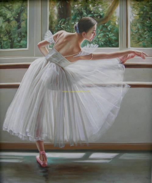 Ballet beautiful girls oil painting