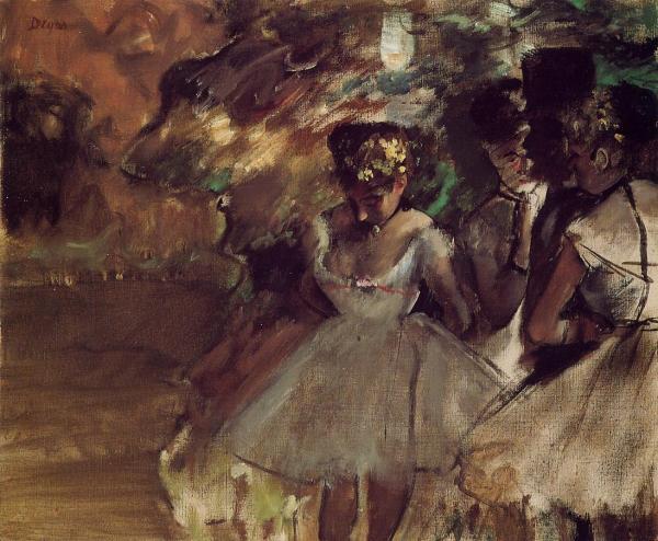Three Dancers behind the Scenes